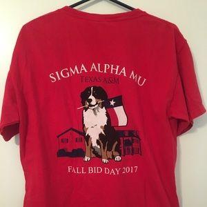 Sigma Alpha Mu Frat Bid Day Comfort Colors T-shirt